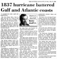 1837 hurricane batttered Gulf and Atlantic coasts